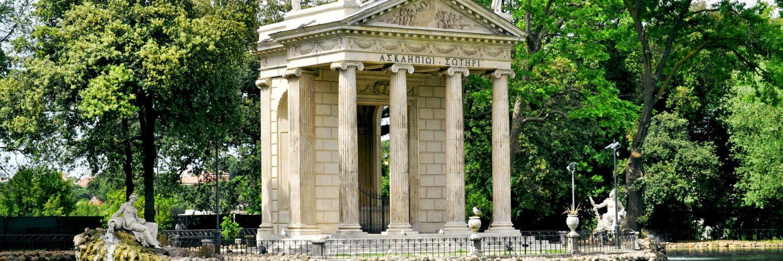 tuinen van villa borghese in rome